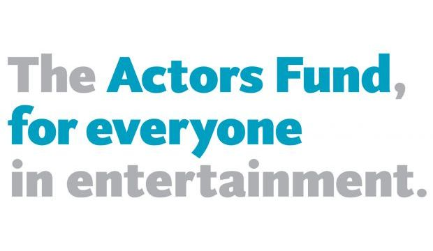 Actors Fund Logo, blue and grey text
